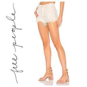 FREE PEOPLE | We The Free Denim Crochet Shorts 25
